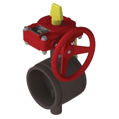 Grooved Butterfly Valve - UL Listed - FM Approved - DI - Model 2400-G - Item # UL FM Grooved Butterfly Valve-Fire Protection - United Water Products