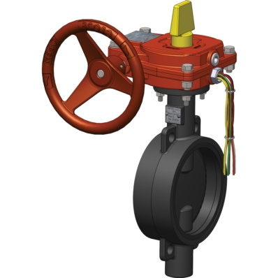 Wafer Butterfly Valve - UL Listed - FM Approved - DI - Model 2400-W - Item # UL FM Wafer Butterfly Valve-Fire Protection - United Water Products