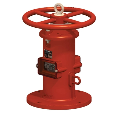 Wall Indicator Post - UL/FM - Model 5500 - Item # UL FM Wall Indicator Post - Fire Protection - United Water Products