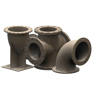 Flanged Fittings - AWWA C110 Class 250, ANSI B16.1 Class 125  - Item # UL Listed Flanged Fittings - AWWA C110 - United Water Products